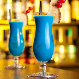 Cocktail blue hawaïan